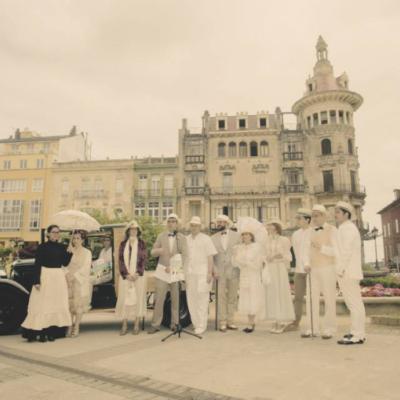 A organización graba o vídeo promocional da festa