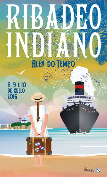 Cartel Ribadeo Indiano 2016